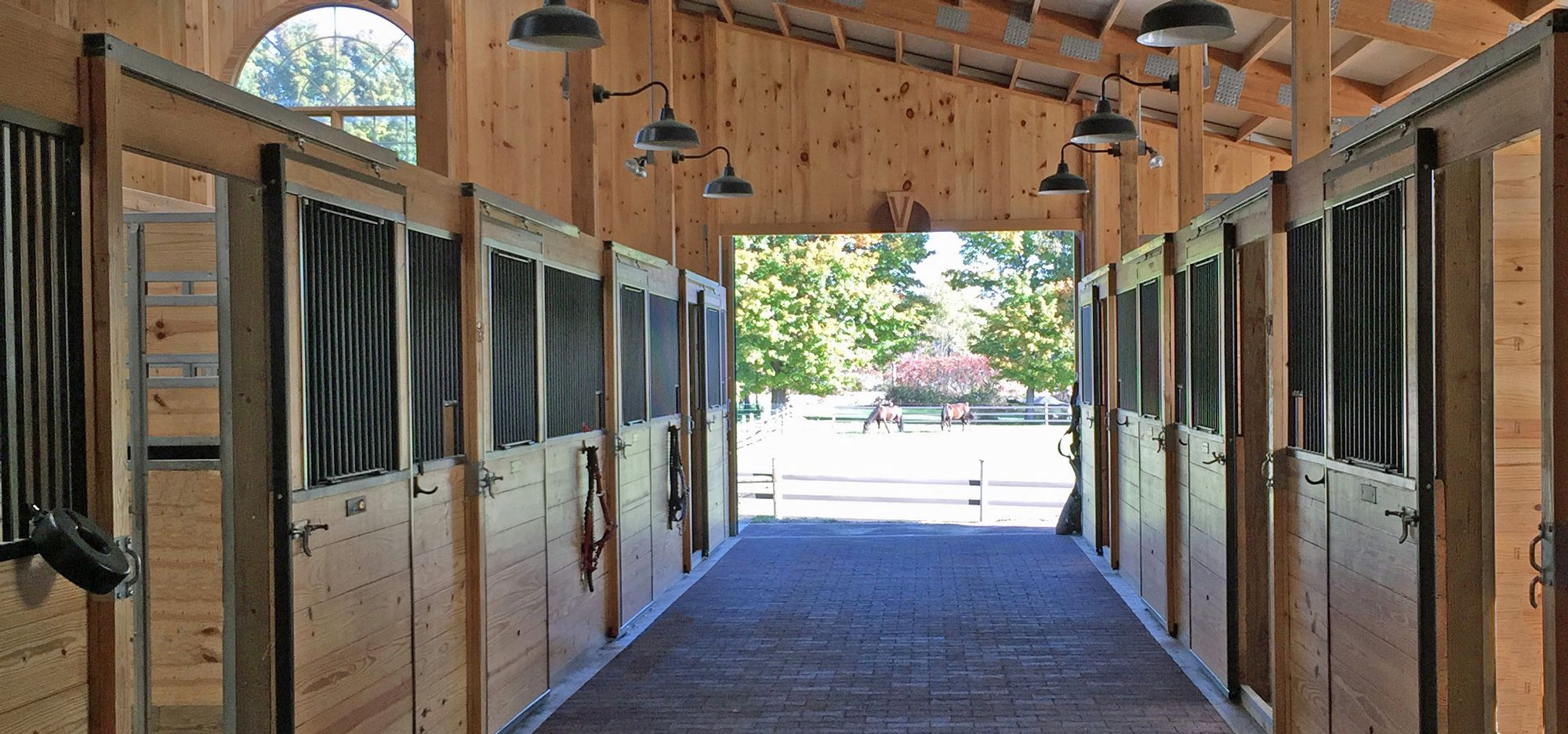 Our brand new 16 stall horse barn